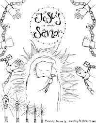 Christmas Nativity Clipart Black And White Free Christmas Coloring