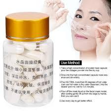 50pcs crystal face mask powder capsules diy crystal hydrating anti aging mask ly