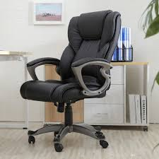 black pu leather high back office chair executive task ergonomic computer desk by luluge998 dhgate com
