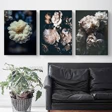Peony Flower Picture Nordic Poster <b>Cuadros Decoration Salon</b> ...