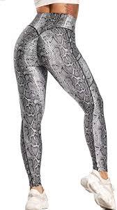 SEASUM <b>Womens High Waist</b> Ruched Yoga Workout Leggings ...