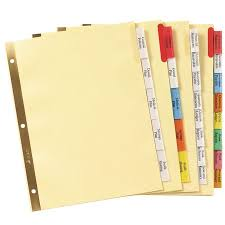 Avery 11901 Template Avery Avery Big Tab Insertable Plastic Dividers 11901 8