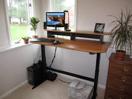 Home office standing desk Elegant Adjustable Height Desk Standing Optimwise How Made My Adjustable Height Standing Desk Optimwise