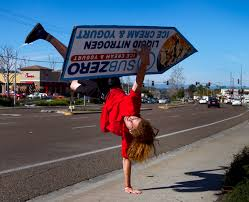 sign twirler a twist on business cities differ on allowing sign twirlers