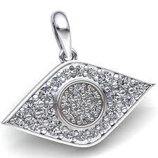 details about genuine 1 50carat round cut diamond men s cer evil eye pendant 18k gold