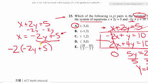act math 16 systems of equations