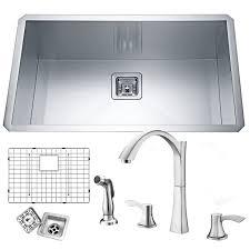 kitchen sink commercial grade stainless steel sink kraus kitchen sinks single bowl sink top mount