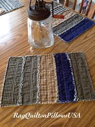Fall Quilted Placemats, Set 2, Country Placemats, Rustic Placemats ... & Fall Quilted Placemats, Set 2, Country Placemats, Rustic Placemats, Western  Decor, Primitive Country, Navy Blue, Tan, Runner, Homespun House Adamdwight.com