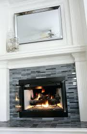 glass tile fireplace hearth around pictures updated grey black decor more gas surround