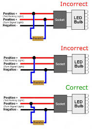 led turn signal resistor wiring diagram wiring diagram and hernes led tail light and turn signal conversion 2 3 wire mod