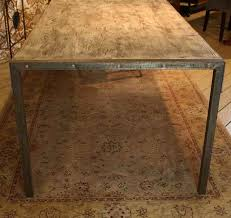 distressed metal furniture. Custom Made Urban Dining Table-Reclaimed Wood Top-Distressed Metal Legs Distressed Furniture A