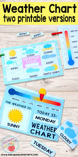 Rainy Day Chart Printable Weather Charts Easy Peasy Learners