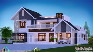 mixed roof beautiful 4 bhk house design