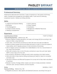 Scientific Drilling Lead Directional Driller Resume Sample - Odessa ...