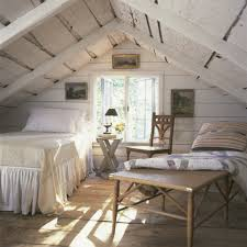 Bedroom:Modern Romantic Attic Bedroom With Track Lighting Idea Rustic White  Wooden Attic Bedroom Interiors