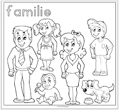 Kleurplaat Familie Family Kleuters Family Coloring Pages Family