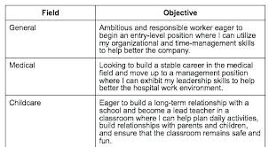 Objective Templates For Resume Career Objectives Resume Examples