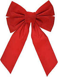 Amazon.com: Red Velvet Christmas Bow 9-inch X 16-inch, 10 Pack of ...