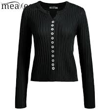 Meaneor Women Button Down Slim Kintted Cardigan Casual Long Sleeve Soft Sweaters 2017 Spring Autumn Female Cardigans