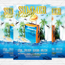 Summer Holiday Premium Flyer Template Instagram Size Flyer