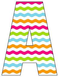 Printable Chevron Letters 8x10 5 Inch Rainbow Chevron Printable Letters A Z 0 9