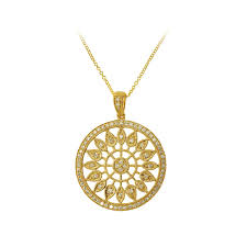 effy 1 3 ct tw diamond fashion pendant in 14k yellow gold