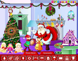 christmas room decoration a free girl game on girlsgogames com