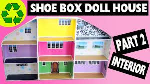 doll furniture recycled materials. How To Make A Shoe Box Dollhouse - Part 2- Interior- Easy Doll Crafts Simplekidscrafts YouTube Furniture Recycled Materials H