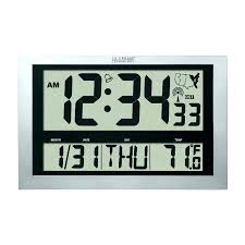lacrosse outdoor clock outdoor atomic clock atomic wall clock benefits home designs insight image of la