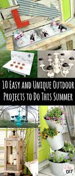 Diy Outdoor Projects 10 Easy And Unique Outdoor Projects To Do This Summer Diva Of Diy