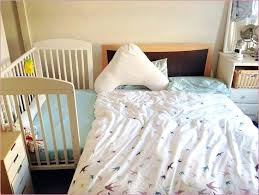 baby bed connected to pas bed bedding cribs flannel mickey mouse animal print nursery gingham crib