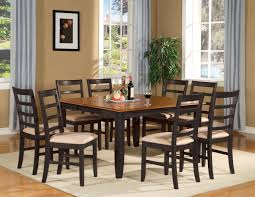 ... Home Decor Dining Room And Awesome Square Table Fo Design Intended For  Seater Black At Boston ...