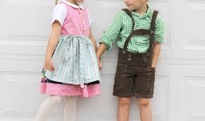 Dirndl Pattern Classy Tutorial Dirndl And Lederhosen Costumes For Little Kids Sewing