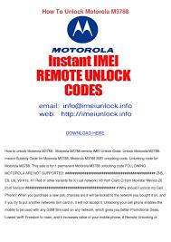 Unlock Motorola M3788 by Mirta Hugh - issuu