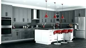 grey cabinets with white kitchen stone shaker light quartz countertops oak full size