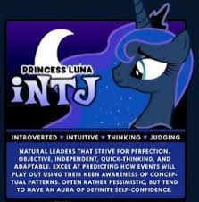 Mlp Mbti Chart My Little Pony Myers Briggs Chart Character