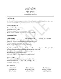 Legal Assistant Resume Examples Free Online Resume template objective  qualification