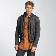 sixth june jacket leather perfecto in grey men sixth june shoes red stylish