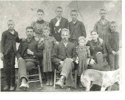 John Frank and Louis Coffey McGill Cantrell family