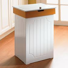 ... Captivating Wooden Kitchen Trash Bin Wooden Trash Can Cabinet White Wood  Kitchen Trash: ...