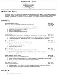 Great Resume Best Write A Great Resume Penelope Trunk Careers