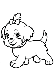 puppy coloring pages free printable cute