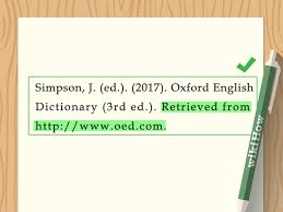 4 Ways To Cite A Dictionary In Apa Wikihow