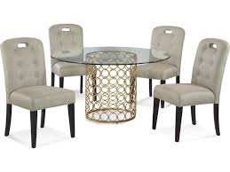 bassett mirror dining table. Bassett Mirror Thoroughly Modern 23 Round Gold Carnaby Dining Table /