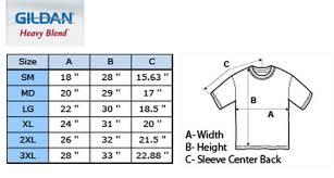 Gildan Tee Shirt Size Chart Gildan Size Chart Sweatshirt Buurtsite Net