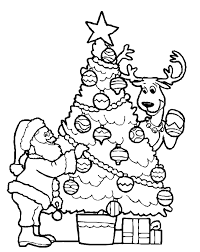 Decorating A Christmas Tree Coloring Pages Christmas Coloring