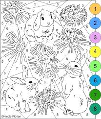 Free Printable Color By Number Pages Spring Coloring Sheets S Free