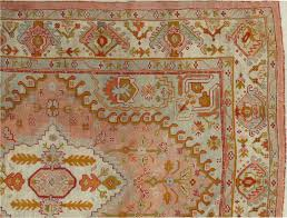 hand knotted antique oushak carpet turkish rugs handmade oriental rug pink blue green