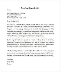 Free Samples Of Cover Letters For Teachers Teacher Cover Letter