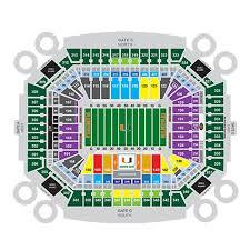 Hard Rock Stadium Seating Chart Hurricanes Hard Rock Stadium Interactive Seating Chart
